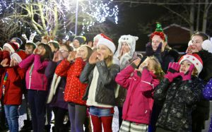 Belgrave School choir singing at last year's Christmas Lights Switch-on at Westminster Park.